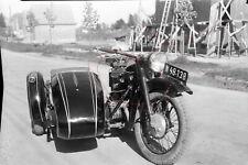 NEGATIV - Österreich 50iger Jahre Oldtimer Motorrad Beiwagen BMW