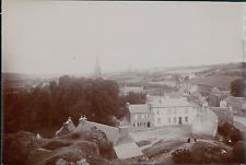 France, La Roche-Maurice, Vue panoramique  Vintage citrate print Tirage ci