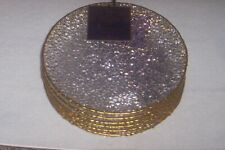 New ListingArtistic Accents Knobby Glass Salad Plates, Set Of 6 New