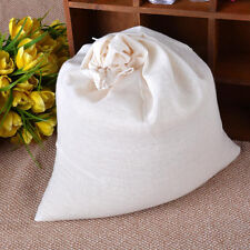 10 Pack Largest 16x20 inch Natural Cotton Muslin Drawstring Bags Reusable