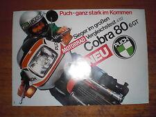 Prospekt Sales Brochure Puch Cobra 80 6 GT Moped Motorrad Mokick  автомобиль