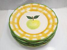 "Williams Sonoma Country Fair 4 Salad Plates, Apple, 8 1/2"""