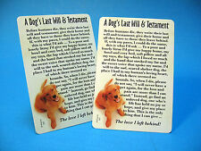 """A Dog's Last Will & Testament"" Poem - 2 Verse Cards - Sku# 607"