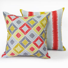 Set of 2. Zamora + Saltillo Zest Cushion Covers - 45x45cm