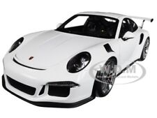 PORSCHE 911 (991) GT3 RS WHITE WITH GREY WHEELS 1/18 MODEL CAR BY AUTOART 78166