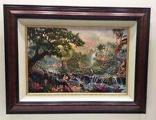 """The Jungle Book"" Thomas Kinkade, Canvas, Disney Ltd. Ed. Framed 23x29"" #172/895"