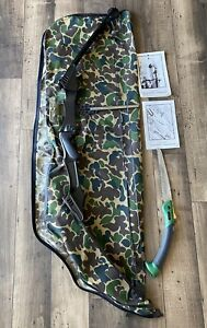 PSE Titan II Graphite Compound Bow with Soft  Case, Target and limb/branch saw.