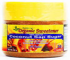 ORGANIC COCONUT SAP SUGAR Manila Coco Vegan SLOW COOK Sucrose Trial Pak 250 gm