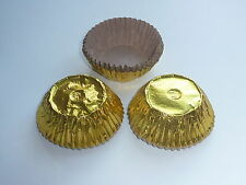30 GOLD CUPCAKE CASES FOIL / METALLIC WITH LINERS