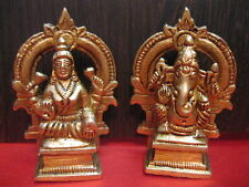 laxmi Ganesh Ganesha Lakshmi Metal Brass statue~ Hindu God & Goddess for Wealth