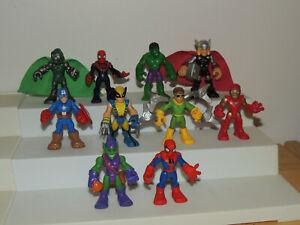 BIG Lot 10 Playskool Marvel Super Hero Adventures 2.5 Figures Thor Hulk Iron Man