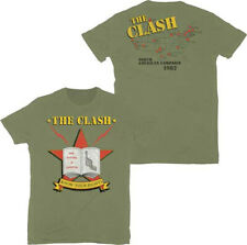 The Clash-Know Your Rights-Large Army Green T-shirt