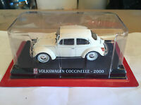 "DIE CAST "" VOLKSWAGEN COCCINELLE - 2000 "" SCALA 1/43 AUTO PLUS + BOX 1"