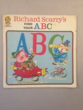 Richard Scarry's Find Your ABC's, Scarry, Richard Hardback Book paperback 1973