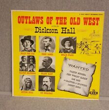 orig DICKSON HALL Outlaws Of The Old West JESSE JAMES Billy Kid Vinyl LP