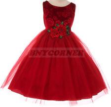93d6d861bceb Christmas Velvet Dresses Size 4 & Up for Girls for sale | eBay