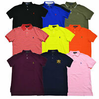 Polo Ralph Lauren Mens Polo Shirt Mesh Custom Fit Pony Logo New S M L Xl Xxl