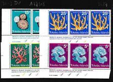 Tokelau 30-33 año 1973 completaett nuevo con goma ori (103287