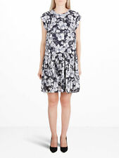 Y.A.S Flower Printed Dress Black Size XS UK 8 TD074 05 V