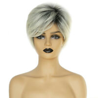 Short Synthetic Hair Wigs Pixie Cut Wig for Black Women Natural Look 8 Inch