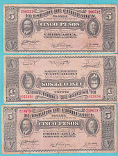 MEXICO .(CHIHUAHUA) .5 PESOS 1914 .(4.99 $ FOR 1 BANK NOTE).