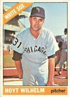 1966 Topps Baseball Set Break Hoyt Wilhelm Chicago White Sox #510 HOFer