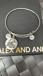 ALEX AND ANI LOVE CHARM BANGLE BRACELET