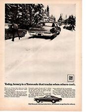 1969 OLDSMOBILE TORONADO ROCKET 455 V-8 ~  ORIGINAL PRINT AD