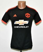 MANCHESTER UNITED 2015/2016 THIRD FOOTBALL SHIRT JERSEY ADIDAS SIZE XS ADULT
