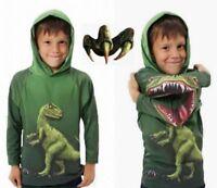 Kids Boys Dinosaur Print Hoodie Casual Cute Long Sleeve T-shirt