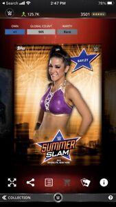 Topps WWE Slam *Digital* 2016 Summerslam Orange Award - Bayley 905cc