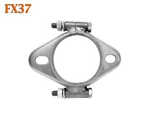 "FX37 2 1/2"" 2.5"" Exhaust Split Flange Formed Oval For 2 1/4"" 2.25"" Flared Pipe"