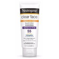 Neutrogena Clear Face Break-Out Free Liquid-Lotion Sunscreen SPF 55 3 oz (4pk)