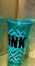 Victoria's Secret PINK Water Bottle, Screw Lid w/ Straw,  Aztec Print NEW