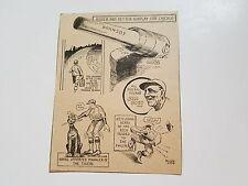 Rogers Hornsby Lefty O'Doul Bucky Harris Tris Speaker Jack Dunn 1929 Cartoon
