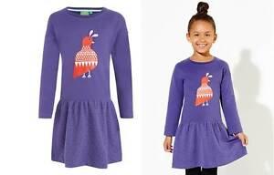 Dress John Lewis girls Donna Wilson girls purple jersey print age 1 3 4  rrp £22