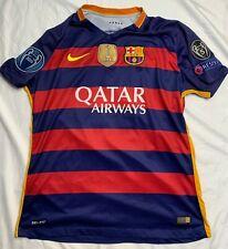 NIKE 2015 Champion #11 FC Barcelona FCB LFP Jersey Qatar Airways Unicef MENS XL