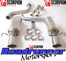 "Scorpion Corsa VXR & Nurburgring Exhaust 3"" Cat Back Resonated Quieter SVX055"