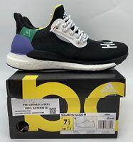 Adidas x Pharrell Solar HU Glide M Black BB8041 Human Races AUTHENTIC Pre-Owned
