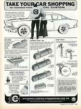 1970 Cal Custom Accessories Take Your Car Shpping Sexy Girl Print Ad