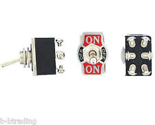 Heavy Duty 20A 125V DPDT 2 Pole Double Throw 6 Terminal On/Off/On Toggle Switch