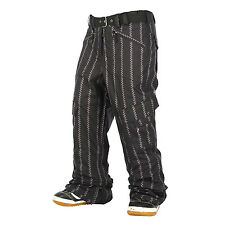 Sessions Relay Pants Womens Waterproof Snowboard Ski Insulated Black Stripe M