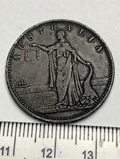 Circa 1858 Australia copper token-James Campbell, Morpeth (a632)