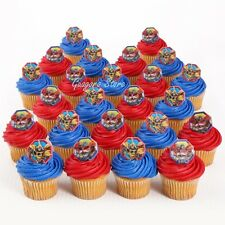 Transformers 18 Cupcake Rings Birthday Toppers Favors Prizes Bag Fillers Supply