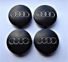 4 Felgendeckel für Audi 60mm radnabendeckel nabenkappen matt schwarz 4B0601170