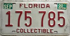 GENUINE American Florida Collectible USA License Licence Number Plate 175 785