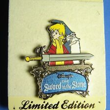 Merlin and Arthur Sword in the Stone UK Disney Store Sword Series Pin LE RARE OC