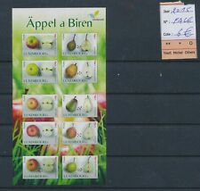 LM31943 Luxembourg 2015 apples fruit good sheet MNH fv 6 EUR