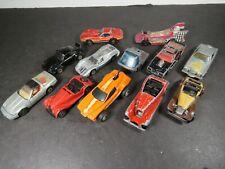 12 Vintage 1970s-1980s Hot Wheels Diecast Cars Trucks Hong Kong Red Wheels B1049