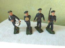 Lot de 4 Soldats STARLUX Plastique Béret Bleu Pantalon bande jaune